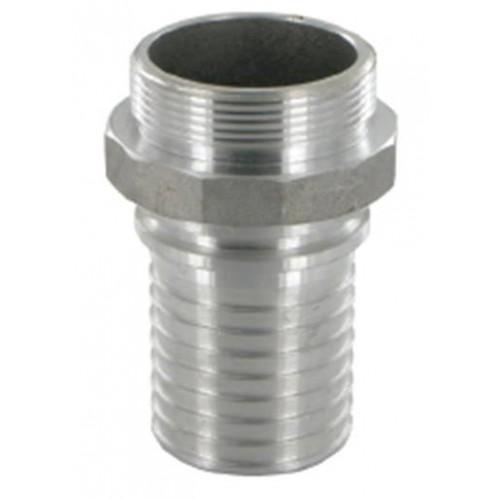 Накрайник с тръбна цолова резба външна резба - алуминий