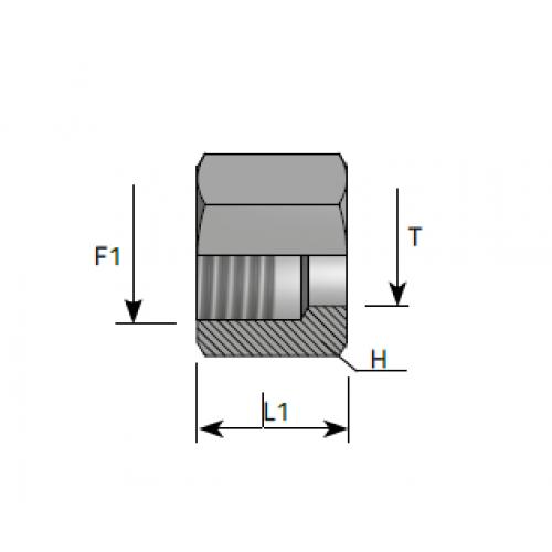 Гайка холендрова,  метрична резба, DIN 2353 - конус 24°
