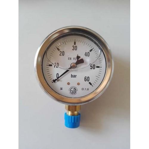 Манометър-радиален с глицерин ф100mm, G1/2