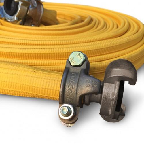 Плосък гумен маркуч за сгъстен въздуx с накрайници за пневмочук