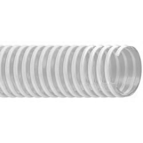 PVC маркуч за засмукване на въздух, прах и абразивни частици URARTU ST – WHITE
